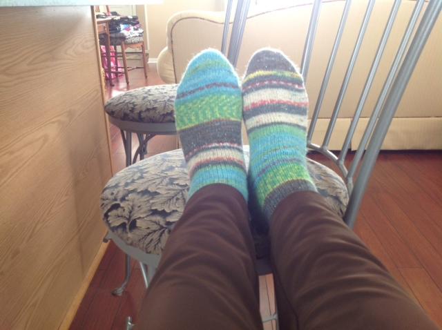 These were Edda's first esd prayer socks.